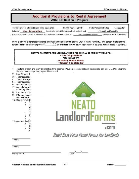 C02- go Section 8 Addendum - Neato Landlord Forms